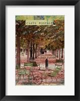 Framed Autumn Tuileries