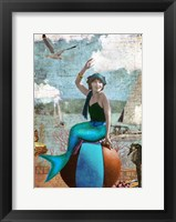 Framed Beach Ball Mermaid