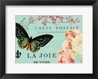 Framed Butterfly Postcard