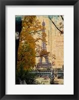 Framed Eiffel in October