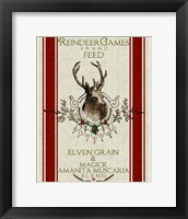 Framed Reindeer Feedsack