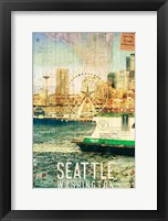 Framed Seattle Ferry Dock