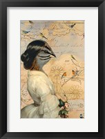Framed Sparrow Lady