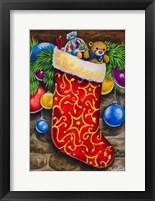 Framed Christmas Stocking