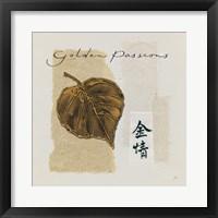 Bronze Leaf III Golden Passions Framed Print