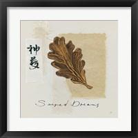 Bronze Leaf II Sacred Dreams Framed Print