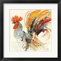 Framed Festive Rooster II
