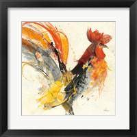 Framed Festive Rooster I