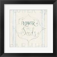 Framed Floursack Florals IX