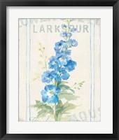 Floursack Florals VII Framed Print