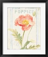 Floursack Florals IV Framed Print