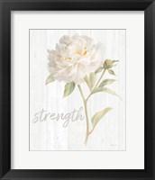 Garden Peony on Wood Strength Framed Print