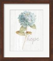 Framed Garden Hydrangea on Wood Hope