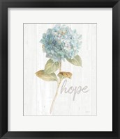 Framed Garden Hydrangea on Wood Hope