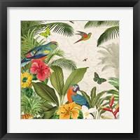Framed Parrot Paradise II