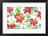 Framed Poinsettia Pretty V