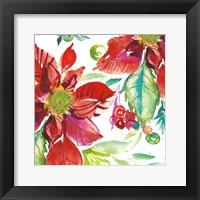 Framed Poinsettia Pretty II
