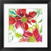 Framed Poinsettia Pretty I