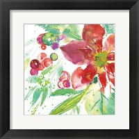 Framed Poinsettia Pretty IV