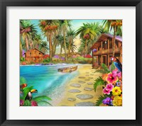 Framed Date Palm Island