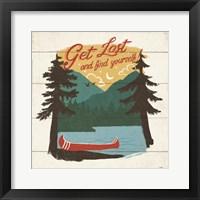 Framed Vintage Lake V