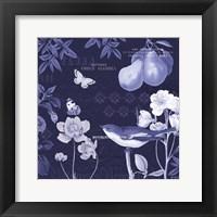 Framed Botanical Blue VI
