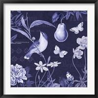 Framed Botanical Blue V