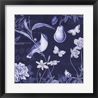 Framed Botanical Blue V