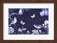 Framed Botanical Blue IV