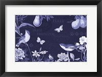 Framed Botanical Blue IV