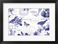 Botanical Blue I Framed Print