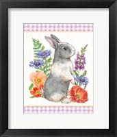 Framed Sunny Bunny IV Checker Border