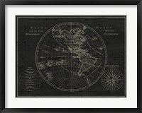 Framed Mappemonde Etching v2