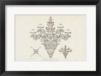 Framed Ornamental Metal Work X Light