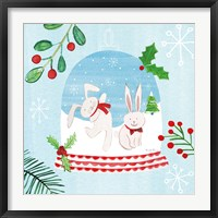 Framed Snow Globe Animals IV