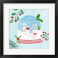 Snow Globe Animals IV Framed Print