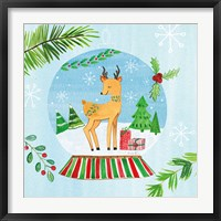 Framed Snow Globe Animals I