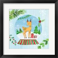 Snow Globe Animals I Framed Print