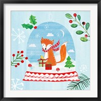Framed Snow Globe Animals III