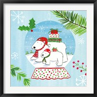 Framed Snow Globe Animals II