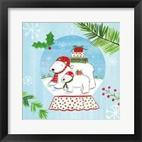 Snow Globe Animals II Framed Print