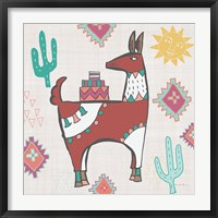 Framed Playful Llamas IV