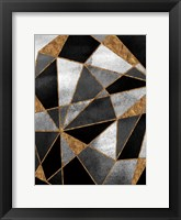 Framed Black Geo Abstracted