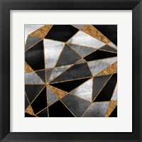 Framed Black Geo Abstract