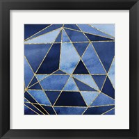 Framed Navy GeoAbstract