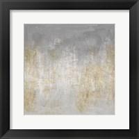 Framed Abstract Shimmer Silver