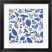 Framed Indigo Foliage