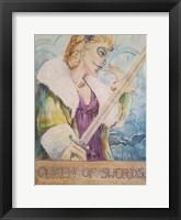 Framed Queen Of Swords