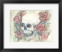 Framed Skull and Roses