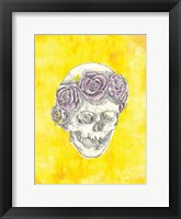 Framed Skull with Rose Crown